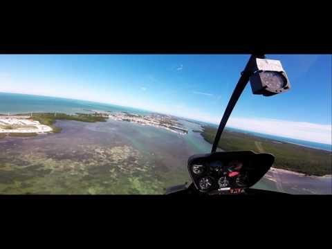 Helicopter Tour over azure seas of the Florida Keys