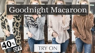 Goodnight Macaroon Try On Haul: Affordable Fall Outfits 2018