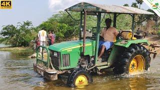 John Deere tractor River crossing | Come To Village