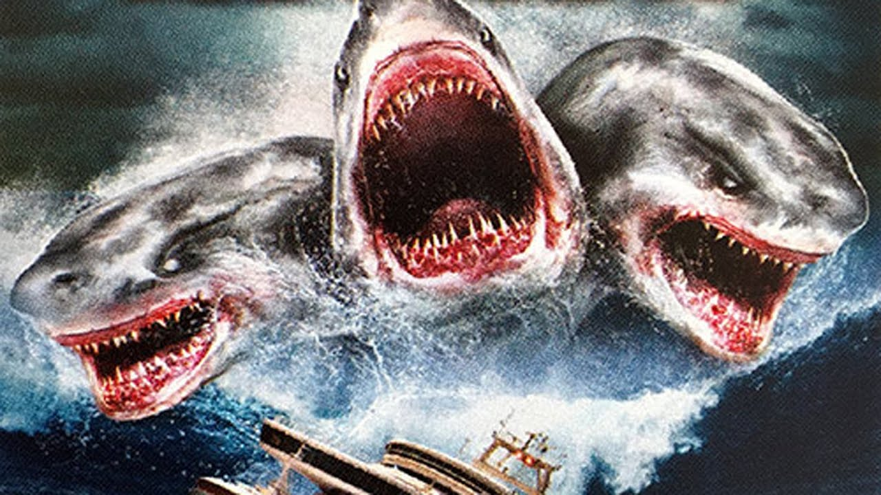 2 headed shark attack poster