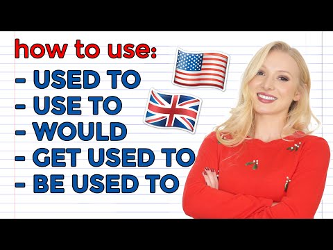 USED TO / USE TO / BE USED TO / GET USED TO / WOULD DO - English Grammar Lesson with Examples & Quiz