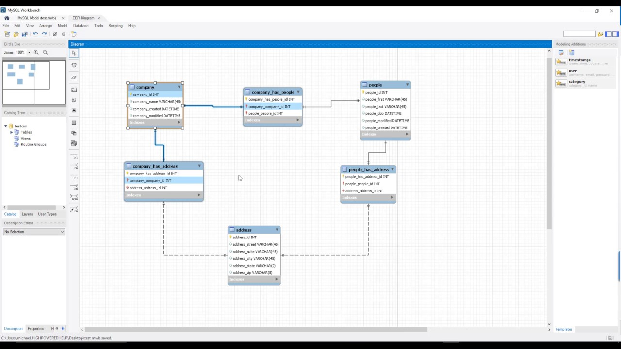 mysql workbench design walkthrough