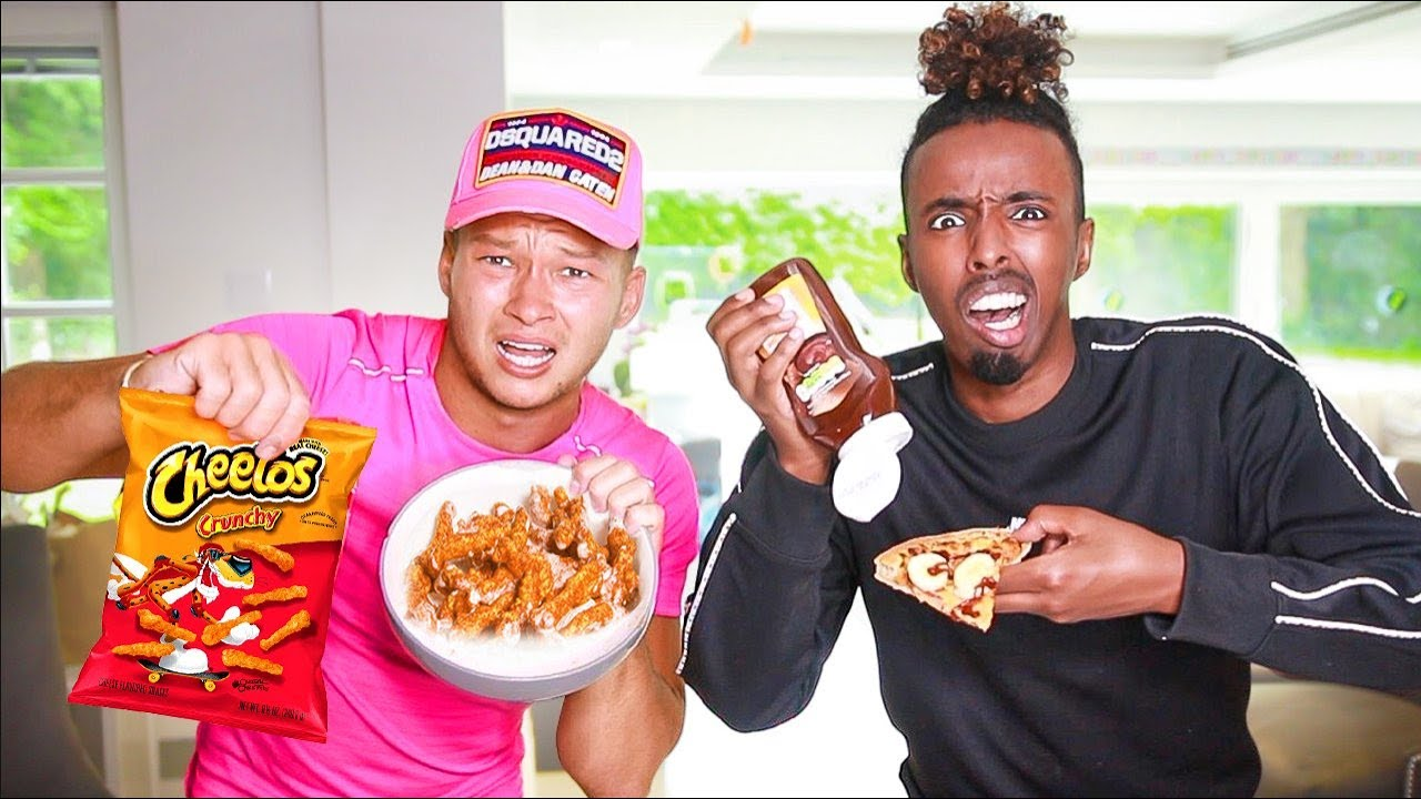 Trying WEIRD FOOD COMBINATIONS That People LOVE ft AJ Shabeel [Boxing Forfeit]