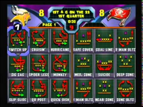 NFL Blitz 2000 - Vikings vs Buccaneers (1st Half)