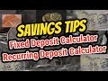 Fixed deposit interest rates calculator -  Simple Savings Tips | Tamil Share Muthukumar