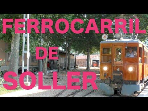 """【full-hd】el-tren-en-mallorca-""""ferrocarril-de-sóller""""-r¡i¡-/-españa,-spain"""