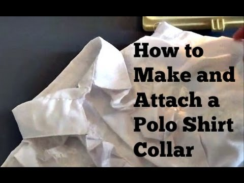 DIY: How to Make and Attach a Polo Shirt Collar - YouTube