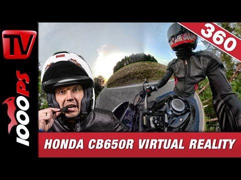Honda CB 650 R - Test in Erfahrungen in 360 Grad Onboard MotoVlog