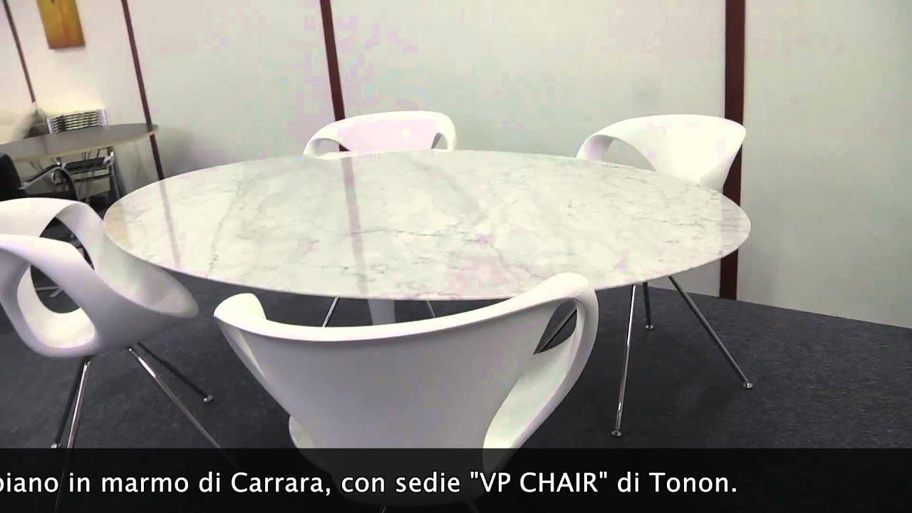 Tavolo Saarinen ovale + sedie Tonon - YouTube