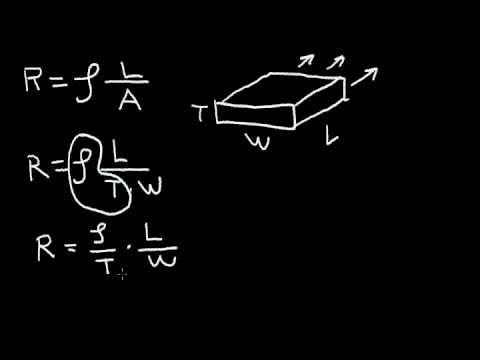Sheet Resistance - Series and Parallel Resistors