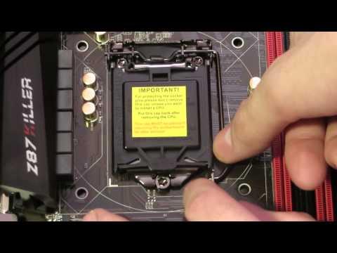 Как установить процессор в сокет 1151