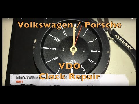 Volkswagen Porsche VDO Analog Clock Troubleshoot And Repair Part 1 Of 2