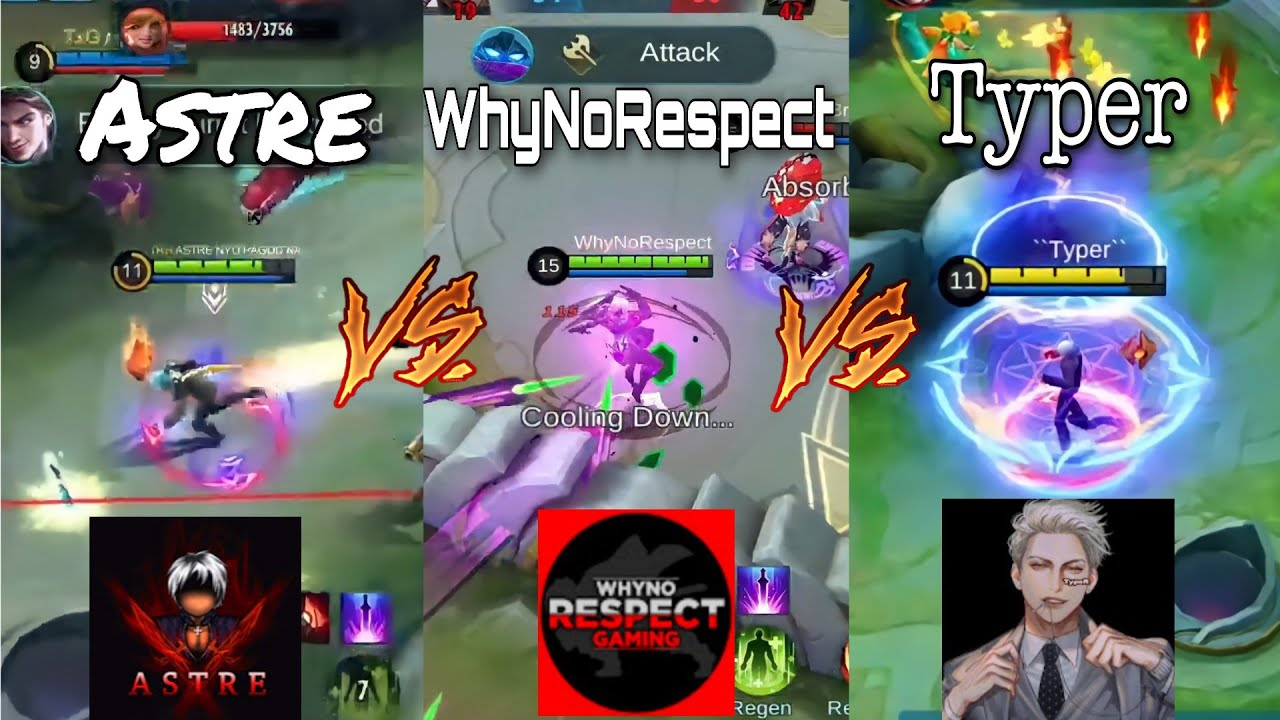 Download ASTRE VS WHYNORESPECT VS TYPER   WHO IS THE BEST GUSION USER   MOBILE LEGENDS BANG BANG