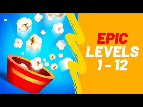 Popcorn Burst Game Walkthrough Epic Levels 1-12