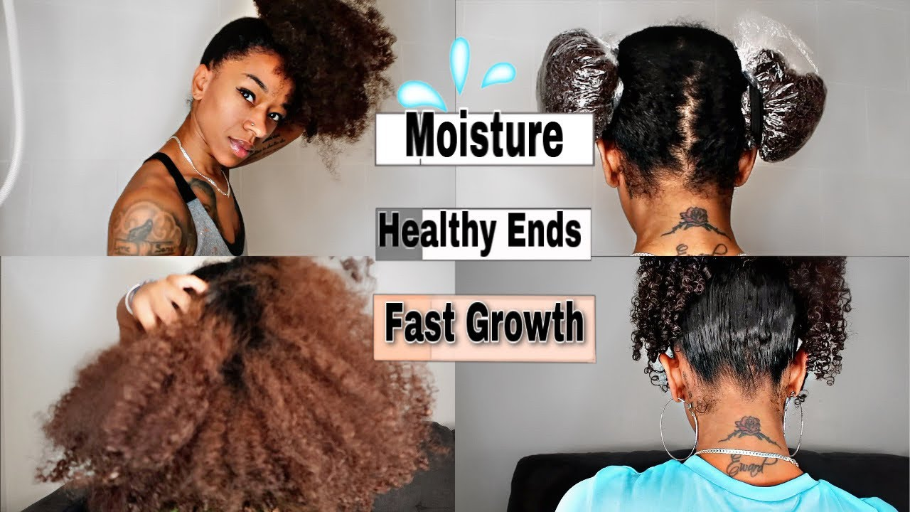 YOU HAVE TO TRY THIS!! THE BAGGY METHOD | HOW TO MOISTURIZE DRY ENDS| FAST HAIR GROWTH!
