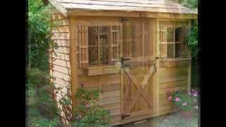 Outdoor Garden And Storage Shed Building Plans
