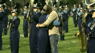 Soldier Surprises Brother at Halftime of Football Game