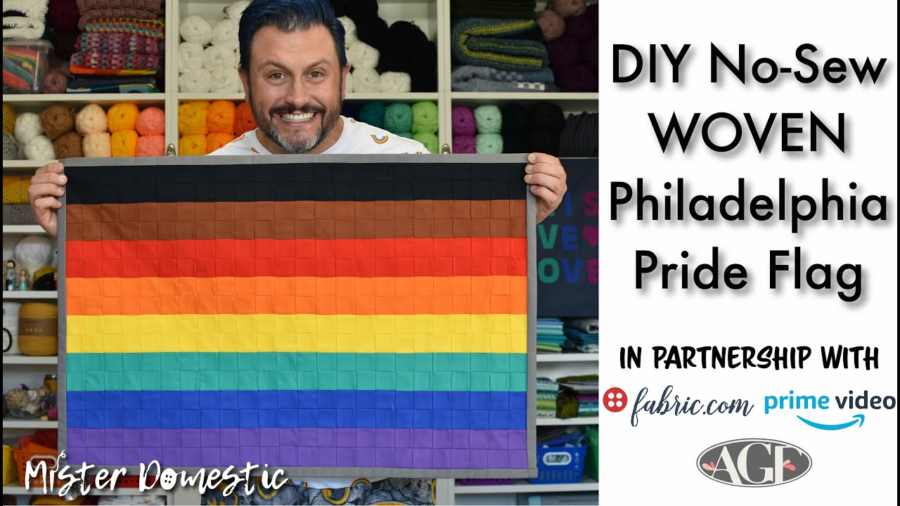 How to Make a DIY Woven Philadelphia Pride Flag with Mister Domestic