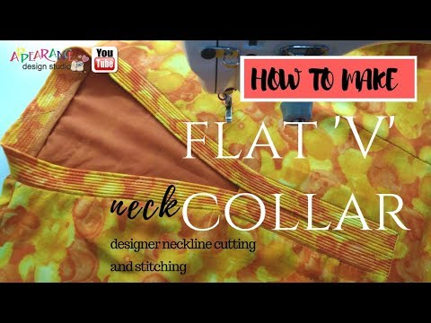How to make flat V collar