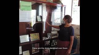 Rosa at sister-city exhibit in Arcatao Museum