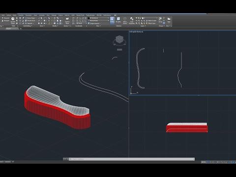 Beginner Tutorial 1 (AutoCAD 2017) - Designing a Shoe (Converse)