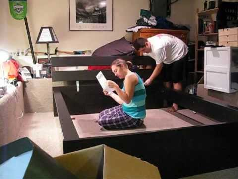 Putting together the ikea bed 1 youtube for How to put together a futon from ikea