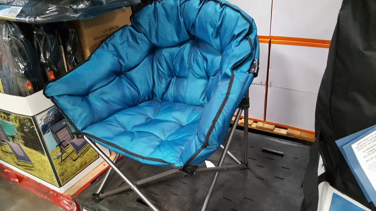 padded camping chair small kitchen table and chairs canada costco extra club 37 super comfort kinda big youtube