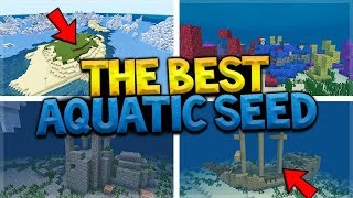 MINECRAFT ICEBERG SURVIVAL ISLAND! Shipwrecks, Coral Reef, Under-Water Ruins AT SPAWN SEED!