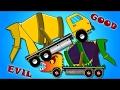 Cement Mixer Truck War | Good vs Evil | Scary Street Vehicles | Halloween Videos for Kids