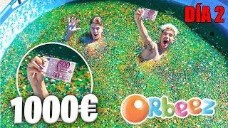 ENCUENTRA 1000€ en 50 MILLONES DE ORBEEZ DENTRO de UNA PISCINA!! *ESCONDITE EXTREMO NIVEL DIOS*