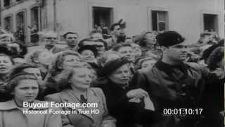 HD Stock Footage Royal Wedding in France 1951 Newsreel