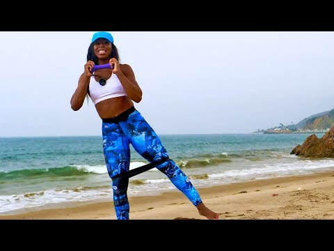 40 Min Legs Workout with Weights & Band // Glutes Legs Thighs