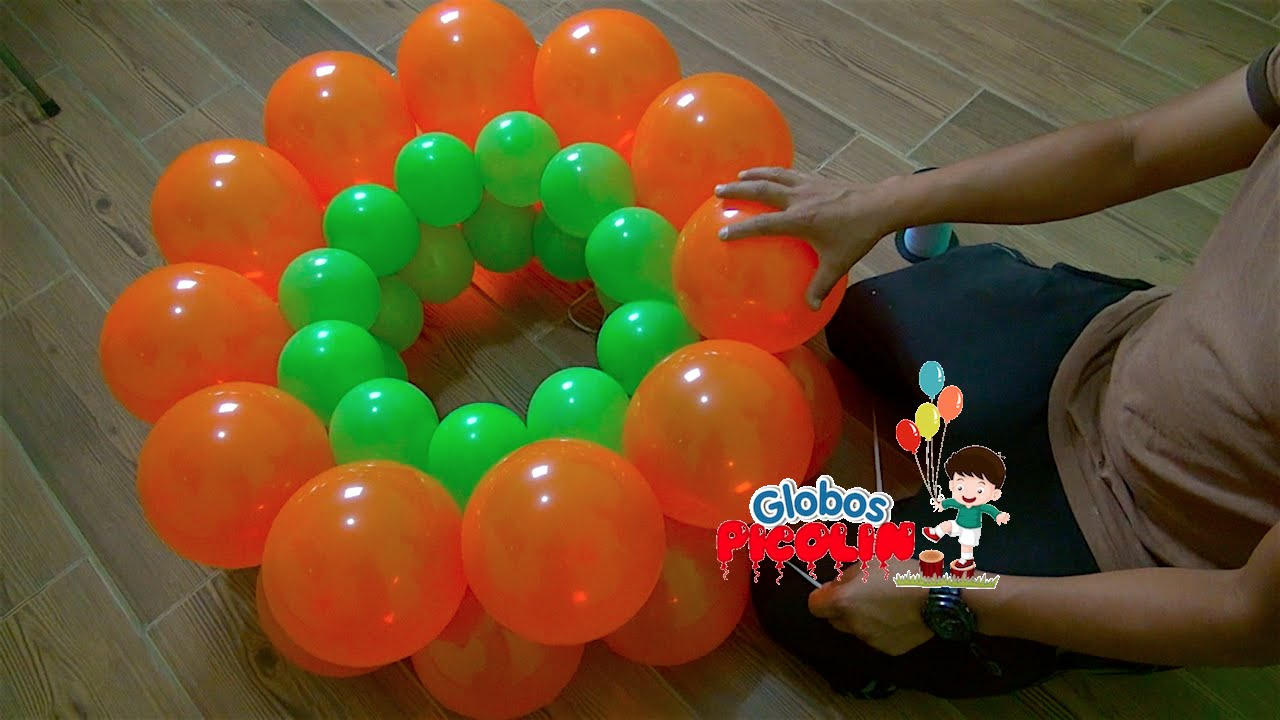 Como hacer guirnalda alternada con globos 2 medidas 37 - Hacer munecos con globos ...