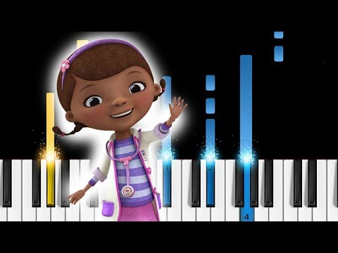 Doc McStuffins - Theme Song - EASY Piano Tutorial