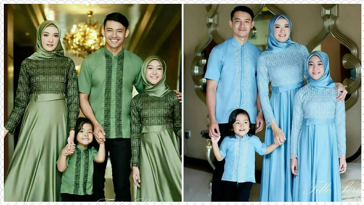 Model Baju Couple Muslim Keluarga Untuk Lebaran Terbaru Tahun 8