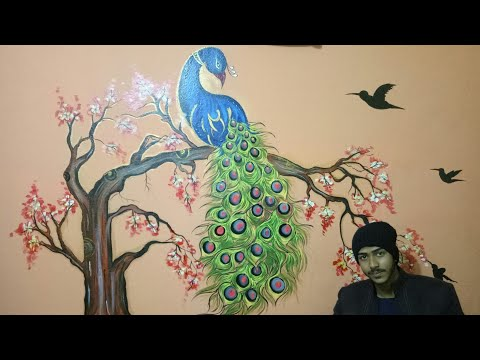 beautiful wall painting with thakur Shivam singh contact us this number9102280174