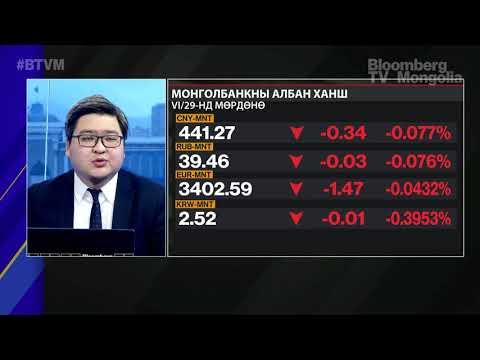 Монголбанк: VI сард 489.8 сая ам.долларыг валютын захад нийлүүлэв
