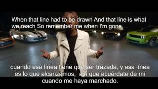 Gambar cover whiz khalifa when a see you again (LETRA EN ESPAÑOL E INGLES)
