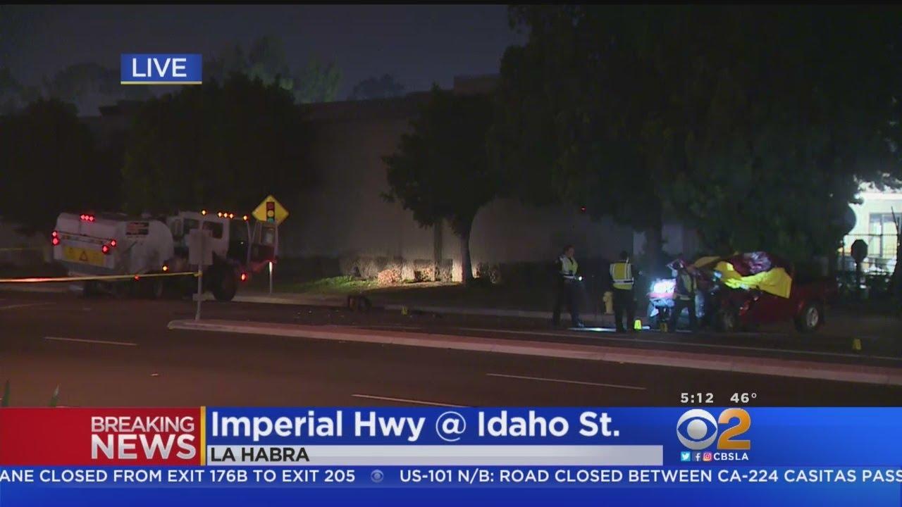 Fatal Crash Into Street Sweeper Investigated In La Habra