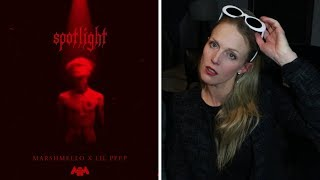 Mom REACTS to Marshmello x Lil Peep - Spotlight [Official Audio]