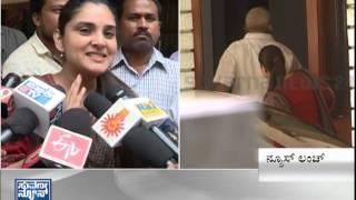 Ramya's visit to S M krishna house