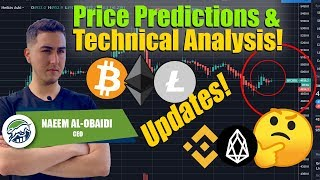 New BTC ETH LTC Price Predictions & Technical Analysis! Bitcoin Ethereum Litecoin Targets! BNB EOS!