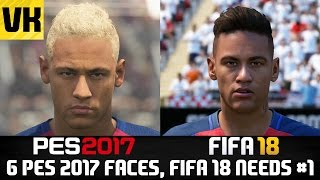 Pes 2017 player faces that fifa 18 needs! (neymar, donnarumma + more!) #1