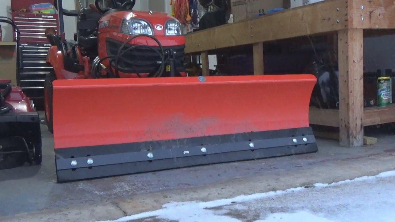 Winter Storm Scott Kubota Bx Rubber Cutting Edge