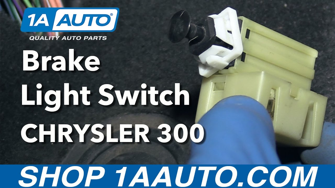 small resolution of how to install replace brake light switch 2005 07 chrysler 300 buy quality parts from 1aauto com youtube