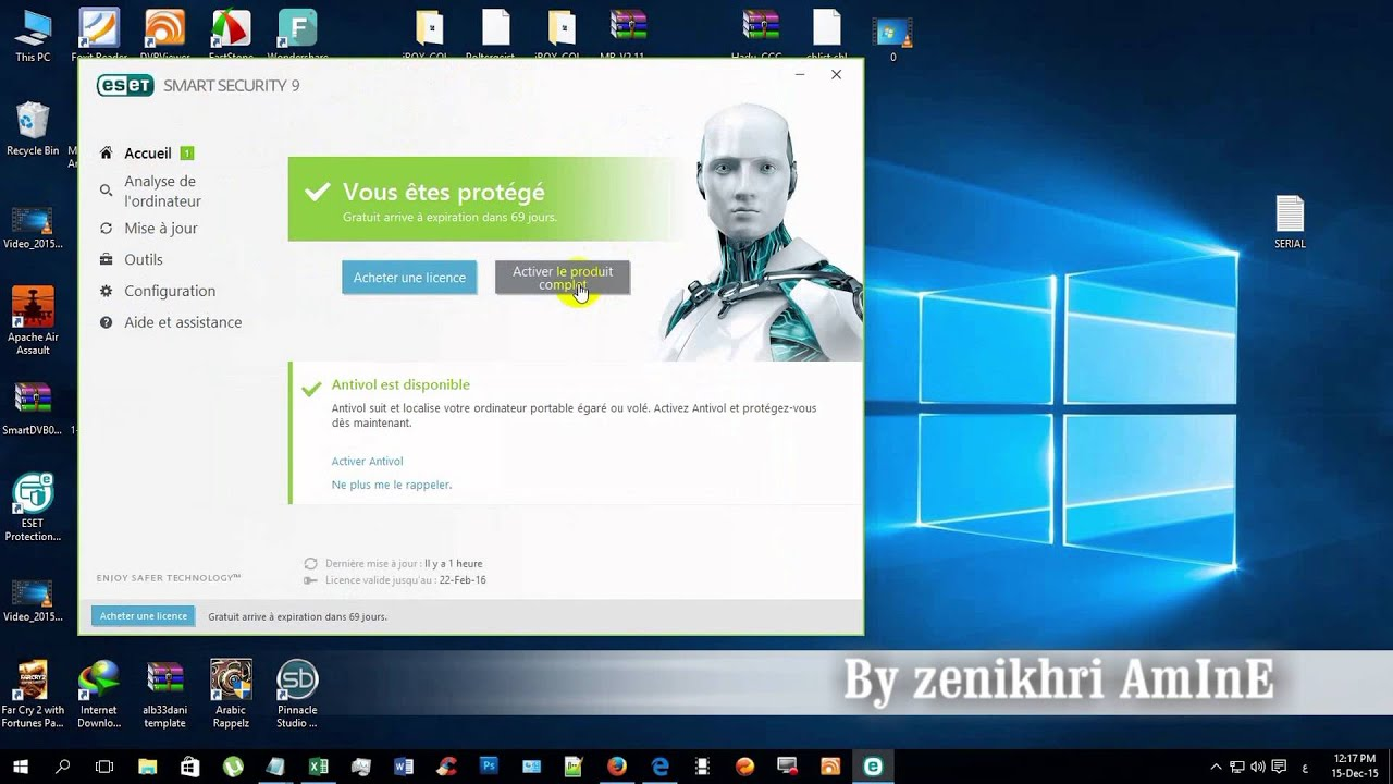 Smart Security 9 Serial >> ESET Smart Security 9 - YouTube
