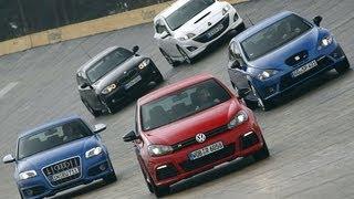 VW Golf R im Vergleich - Wer ist der Leitwolf unter den Kompakten? Teil 1/2