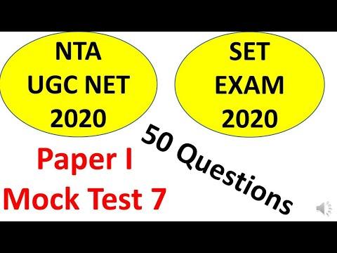 Teaching Aptitude Paper 1 For UGC NET And SET Exam June 2020 Preparation. Mock Test 7
