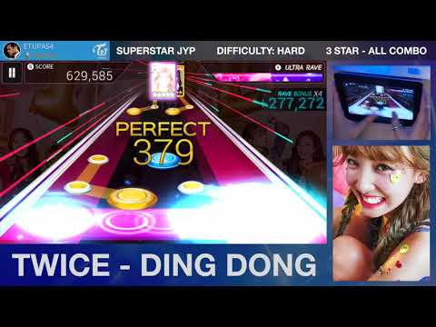 [Superstar JYPNATION] TWICE - DING DONG (Hard - 3 Star ALL COMBO)