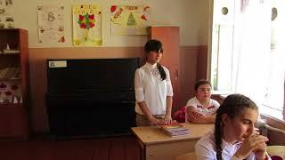 Урок русского языка в средней школе с.Ашан Мартунинского района.